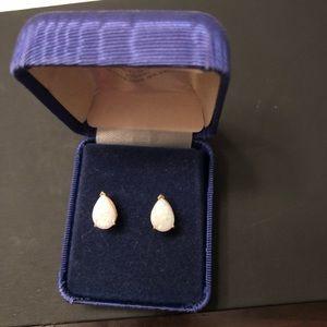 Jewelry - Genuine fire opal earrings